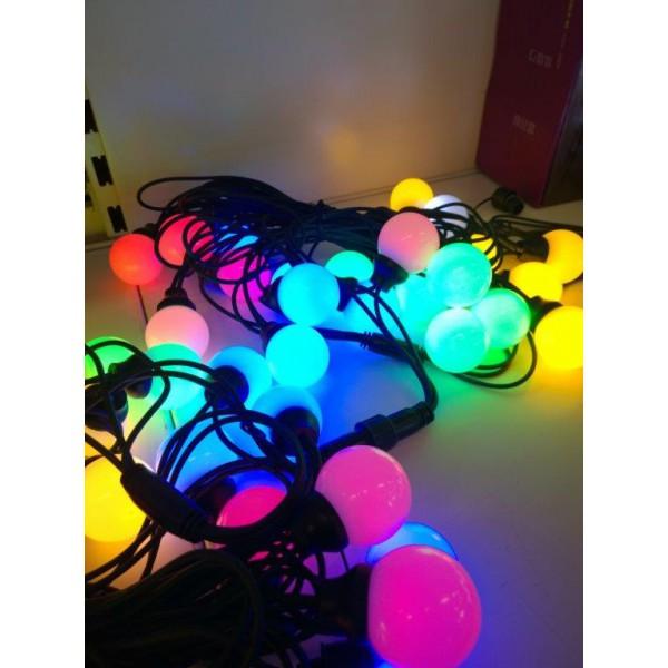 Ledvalgusti 40 lampi värvilised (multi) sirge valguskett õue