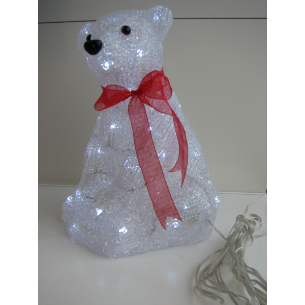 Jääkaru istuv decor 30cm