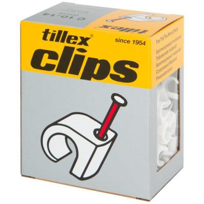 Kaablinael 8-12 mm valge 100 tk karbis Tillex