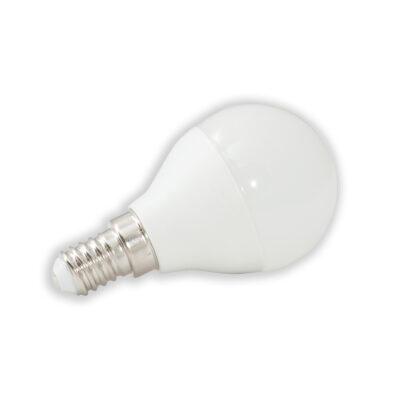 LED lamp G45 PALL 6W, E14 490lm 2tk