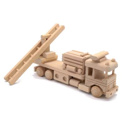 Mänguasi tuletõrjeauto puidust