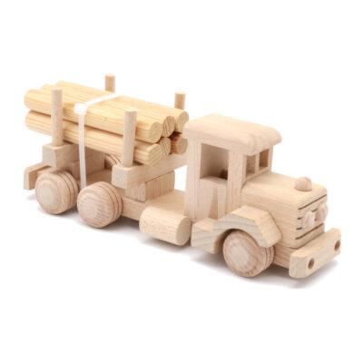 Mänguasi veoauto palgiveok puidust