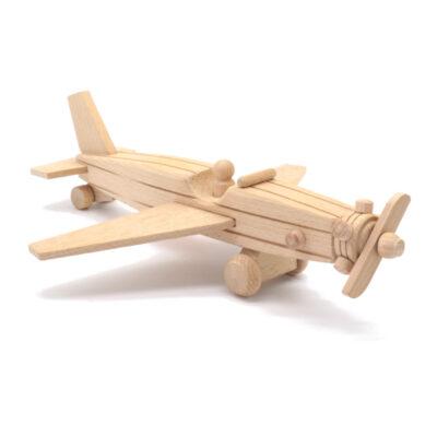 Puidust mänguasi lennuk