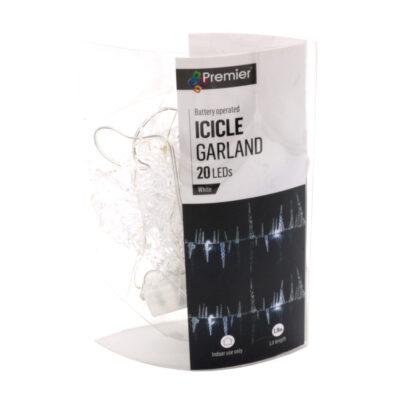 LEd jääpurikatega valguskett