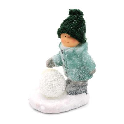 poisi kuju led lumepalliga
