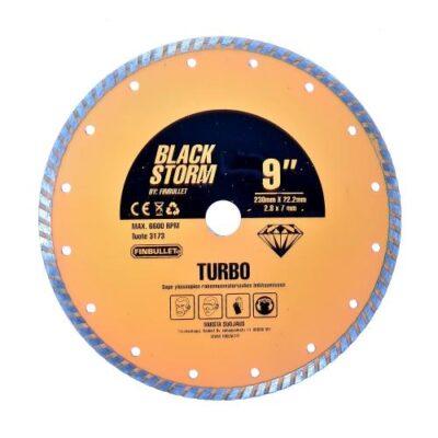 Teemantketas 230*2,6*7*22mm TURBO