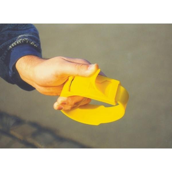 Märkmelint jalale plastikust kollane