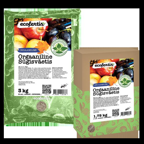 Orgaaniline sügisväetis 3kg