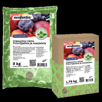 Orgaaniline väetis puuviljadele ja marjadele 7.5kg