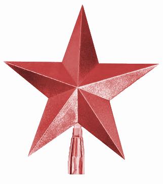 Jõulukaunistus täheke 19x20cm punane