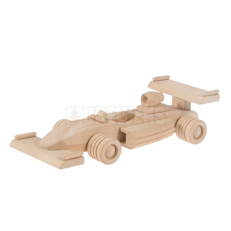 Mänguasi võidusõiduauto puidust