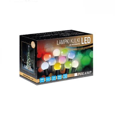 LED jõulutuled 10m 100LED RGB jätkatav välis