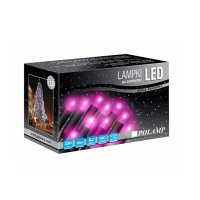 LED jõulutuled 10m 100LED lilla jätkatav sise
