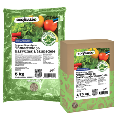 Orgaaniline väetis tomatitele ja kasvumaja taimedele 7.5kg