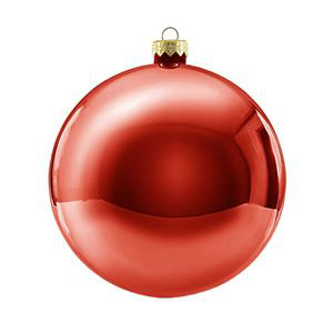 Jõulukaunistus kuul 12cm punane